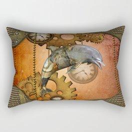 Steampunk, awesom steampunk dolphin Rectangular Pillow