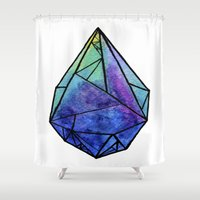 prism Shower Curtains featuring Teardrop Prism by Hayley Lang