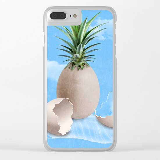 EGGS ON A FEATHER (surreal abstract) Clear iPhone Case