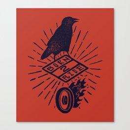 born 2 ride Canvas Print