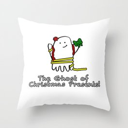 The Ghost of Christmas Presents Throw Pillow