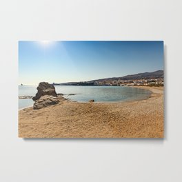 Neiborio beach near Chora in Andros island, Greece Metal Print