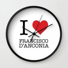 I Heart Francisco D'Anconia Wall Clock