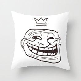 vector cartoon face. Isolated eps 10  Throw Pillow