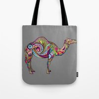camel Tote Bags featuring Camel by Green Girl Canvas