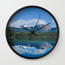 Pyramid Lake Reflections Photography Print Wall Clock