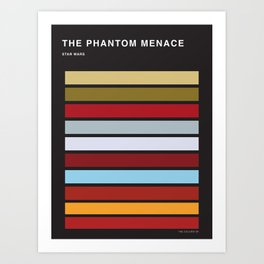The colors of StarWars - The Phanton Menace Episode 1 Art Print