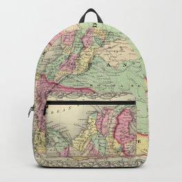 Vintage Map of Venezuela, Ecuador, Colombia (1855) Backpack