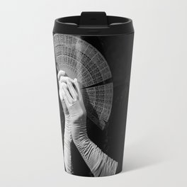 The white folding fan Travel Mug