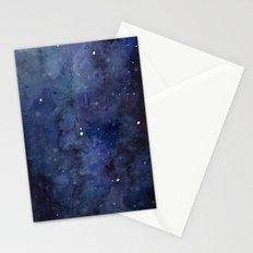 Night Sky Stars Galaxy | Watercolor Nebula Stationery Cards