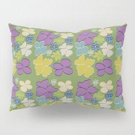 Green Bright Blooms Pillow Sham