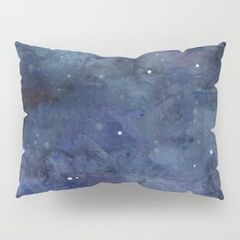 Night Sky Stars Galaxy | Watercolor Nebula Pillow Sham