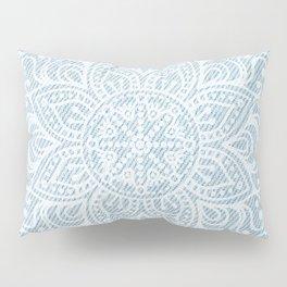 Mandala on Light Blue Jeans Pillow Sham