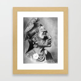 CROW SHAMAN Framed Art Print