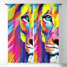 LION-FACE-ART Blackout Curtain