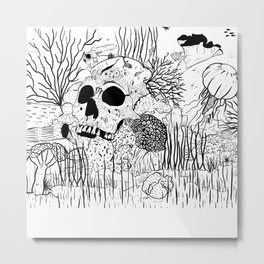 Down where it's wetter Metal Print