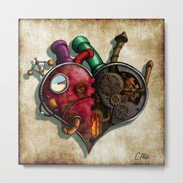 The Clockwork Heart Metal Print