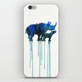 rhinoceros_001 iPhone Skin