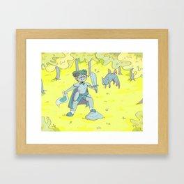 Huevember Day 2: The Sword Framed Art Print