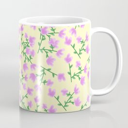 Purple Flowers_Yellow Coffee Mug