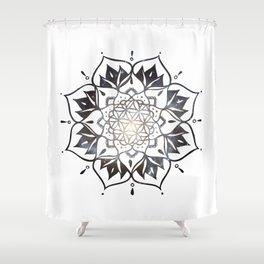 Namaste Nebula Mandala Design Shower Curtain