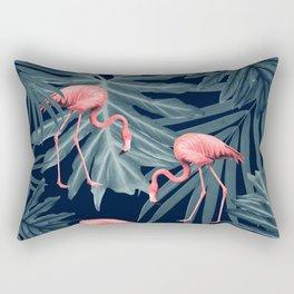 Summer Flamingo Jungle Night Vibes #1 #tropical #decor #art #society6 Rectangular Pillow