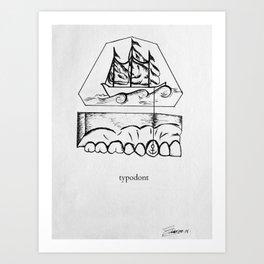 typodont. Art Print