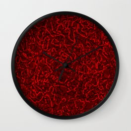 Chaotic bright tangled ropes and red dark lines. Wall Clock