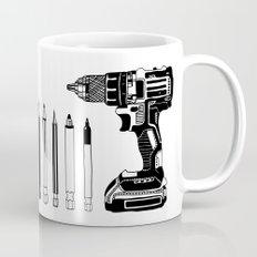 Art Power Tools Drill Bit Set Doodle Mug