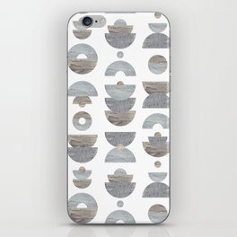 semicircle pattern iPhone Skin