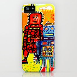 Save The Robots iPhone Case