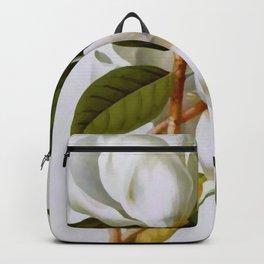 Vintage Botanical White Magnolia Flower Art Backpack