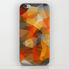 red orange black and white abstract background iPhone Skin