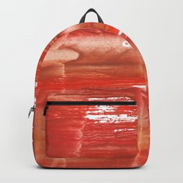 Rowan red stained watercolor texture Backpack