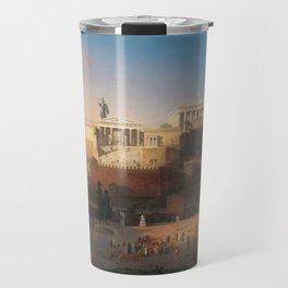 The Acropolis of Athens, Greece by Leo von Klenze Travel Mug