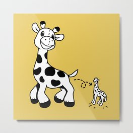 GiraffeWatch Metal Print