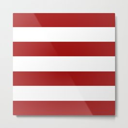 Red and White Stripes Metal Print