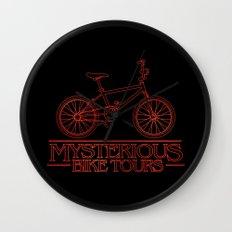 Mysterious Bike Tours Wall Clock