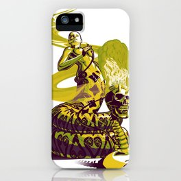 SnakeWoman and Demon-Skull Bong iPhone Case
