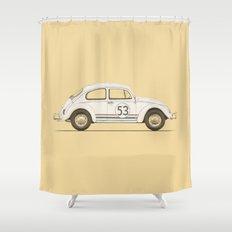 Famous Car #4 - VW Beetle Shower Curtain