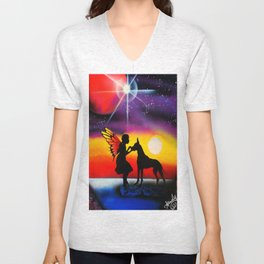 For the Love of a Great Dane Unisex V-Neck