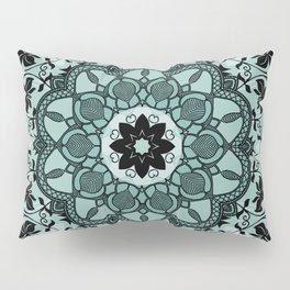 Blue & Black Floral Design Pillow Sham