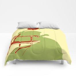 Living posters minimalist art nouveau Comforters