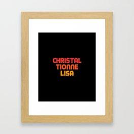 Christal Tionne Lisa Framed Art Print