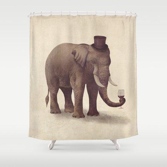 A Fine Vintage  Shower Curtain