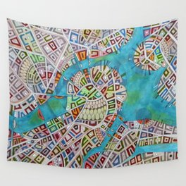 imaginary map of boston  Wall Tapestry