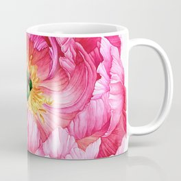 Coral Peony Watercolour Coffee Mug
