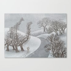 The Night Gardener - Winter Park  Canvas Print