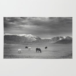 Horses in the Mountains Rug