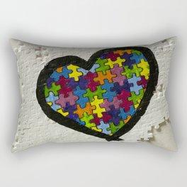 Autism Awareness Heart Rectangular Pillow